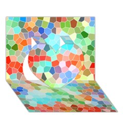 Colorful Mosaic  Heart 3d Greeting Card (7x5) by designworld65