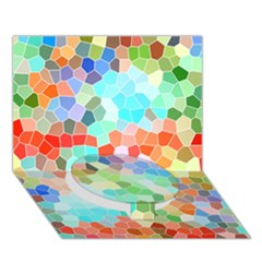 Colorful Mosaic  Circle Bottom 3d Greeting Card (7x5) by designworld65