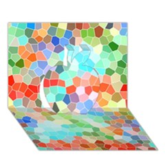 Colorful Mosaic  Apple 3d Greeting Card (7x5) by designworld65