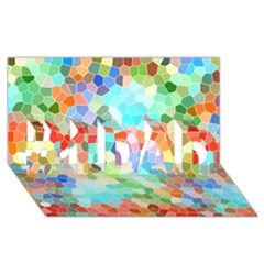 Colorful Mosaic  #1 Dad 3d Greeting Card (8x4) by designworld65