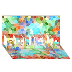 Colorful Mosaic  BELIEVE 3D Greeting Card (8x4)