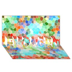Colorful Mosaic  Engaged 3d Greeting Card (8x4) by designworld65