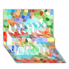 Colorful Mosaic  You Did It 3d Greeting Card (7x5) by designworld65