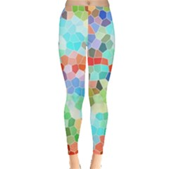 Colorful Mosaic  Leggings  by designworld65
