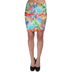 Colorful Mosaic  Bodycon Skirt by designworld65