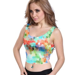 Colorful Mosaic  Crop Top