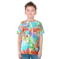 Colorful Mosaic  Kids  Cotton Tee