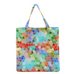 Colorful Mosaic  Grocery Tote Bag by designworld65