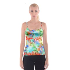 Colorful Mosaic  Spaghetti Strap Top by designworld65