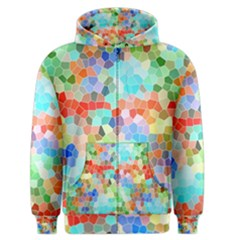 Colorful Mosaic  Men s Zipper Hoodie by designworld65
