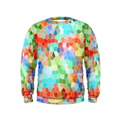 Colorful Mosaic  Kids  Sweatshirt by designworld65