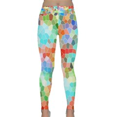 Colorful Mosaic  Yoga Leggings  by designworld65