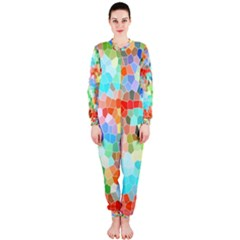 Colorful Mosaic  Onepiece Jumpsuit (ladies)  by designworld65
