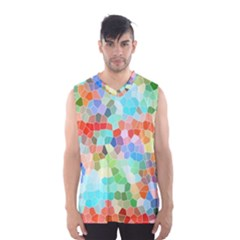 Colorful Mosaic  Men s Basketball Tank Top by designworld65
