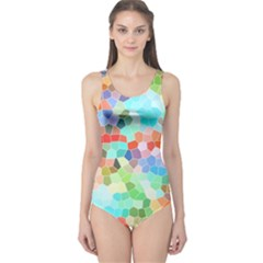 Colorful Mosaic  One Piece Swimsuit