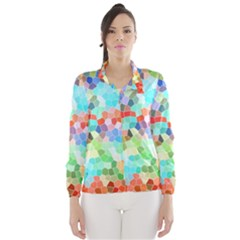 Colorful Mosaic  Wind Breaker (women) by designworld65