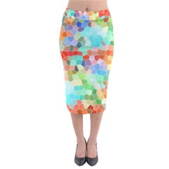 Colorful Mosaic  Midi Pencil Skirt by designworld65