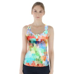 Colorful Mosaic  Racer Back Sports Top by designworld65