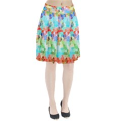 Colorful Mosaic  Pleated Skirt by designworld65