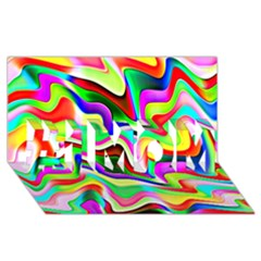 Irritation Colorful Dream #1 Mom 3d Greeting Cards (8x4) by designworld65