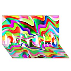 Irritation Colorful Dream BEST BRO 3D Greeting Card (8x4)