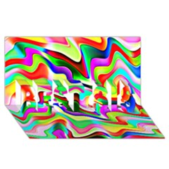 Irritation Colorful Dream BEST SIS 3D Greeting Card (8x4)