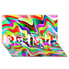 Irritation Colorful Dream BELIEVE 3D Greeting Card (8x4)