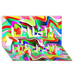 Irritation Colorful Dream Laugh Live Love 3D Greeting Card (8x4)