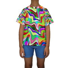 Irritation Colorful Dream Kids  Short Sleeve Swimwear