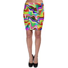 Irritation Colorful Dream Bodycon Skirt