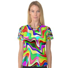 Irritation Colorful Dream Women s V-Neck Sport Mesh Tee