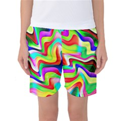 Irritation Colorful Dream Women s Basketball Shorts