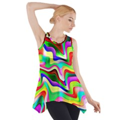 Irritation Colorful Dream Side Drop Tank Tunic