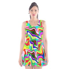 Irritation Colorful Dream Scoop Neck Skater Dress
