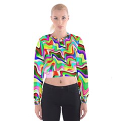 Irritation Colorful Dream Women s Cropped Sweatshirt