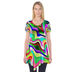 Irritation Colorful Dream Short Sleeve Tunic