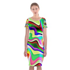 Irritation Colorful Dream Classic Short Sleeve Midi Dress