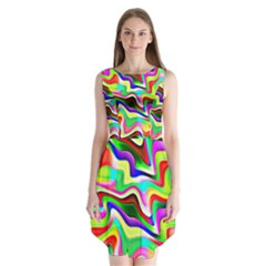 Irritation Colorful Dream Sleeveless Chiffon Dress