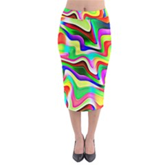 Irritation Colorful Dream Midi Pencil Skirt
