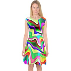 Irritation Colorful Dream Capsleeve Midi Dress