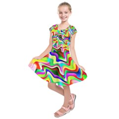 Irritation Colorful Dream Kids  Short Sleeve Dress