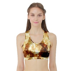 Sparkling Lights Sports Bra with Border