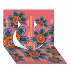 Colorful Floral Dream Heart 3D Greeting Card (7x5)