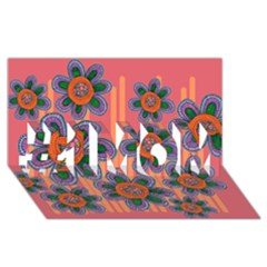 Colorful Floral Dream #1 MOM 3D Greeting Cards (8x4)