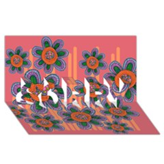 Colorful Floral Dream SORRY 3D Greeting Card (8x4)
