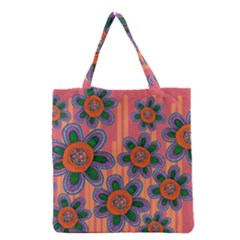 Colorful Floral Dream Grocery Tote Bag