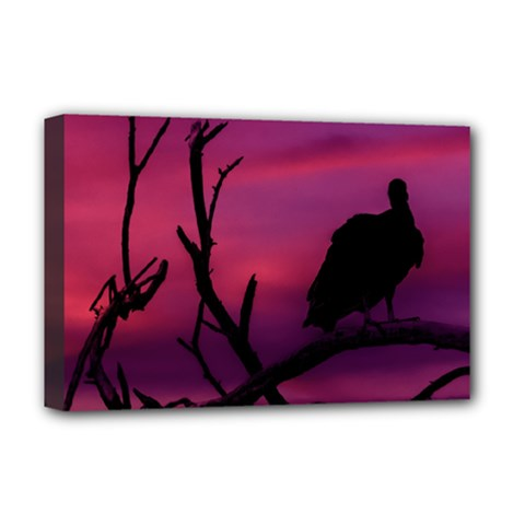 Vultures At Top Of Tree Silhouette Illustration Deluxe Canvas 18  x 12