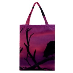 Vultures At Top Of Tree Silhouette Illustration Classic Tote Bag