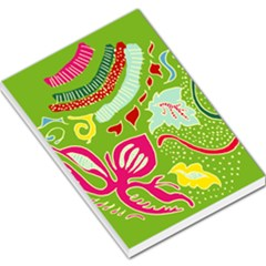 Green Organic Abstract Large Memo Pads by DanaeStudio