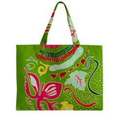 Green Organic Abstract Zipper Mini Tote Bag by DanaeStudio